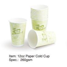 Single Wall Cold Paper Cup 8oz / 12 oz / 16 oz