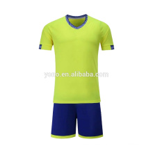 2017 new kid soccer jersey custom blank design cheap price football uniform