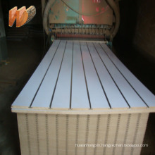 18mm Melamine Slotted MDF/Slat wall/ grooved MDF for wall decoration