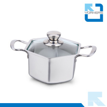 304 18/8 Aço Inoxidável Hexagon Stock Pot & Soup Pot