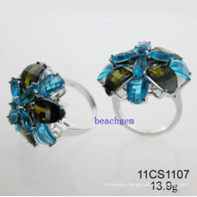 Silver Cubic Zirconia Rings Jewelry (11CS1107)