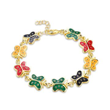 Nachgemachtes Gold überzogenes Gold 18k überzog Frauen Bracelelt Schmetterlings-Goldarmband