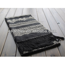 Jacquard acrylic shawl scarf women/men