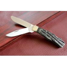 Ox Horn Handle Double Blades Knife (SE-0477)