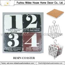 Fábrica Customed Blank Resin Porta-copos