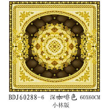 Manufacture de sol en porcelaine en cristal doré poli à Zibo (BDJ60288-6)