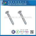 Hecho en Taiwán M3.5X30 Núcleo de acero al carbono Bugle Head Self Tapping Tornillos