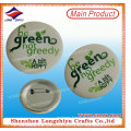 Custom Logo Price Printed Tinplate Badge Button Pin