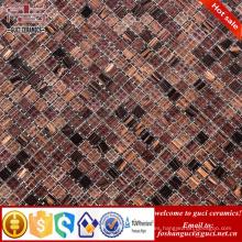 Las pequeñas partículas marrones de la fábrica de China mezclaron caliente - la teja del piso de la cocina del mosaico de la fusión