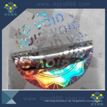 Runder Form-Hohlraum-Hologramm-Aufkleber