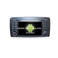 Usine directement! Lecteur DVD pour voiture 1024 * 600 android voiture dvd lecteur pour Benz R + OEM + quad core!