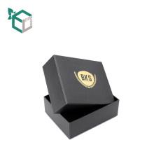 Custom cardboard fancy top bottom velvet insert ring jewelry box