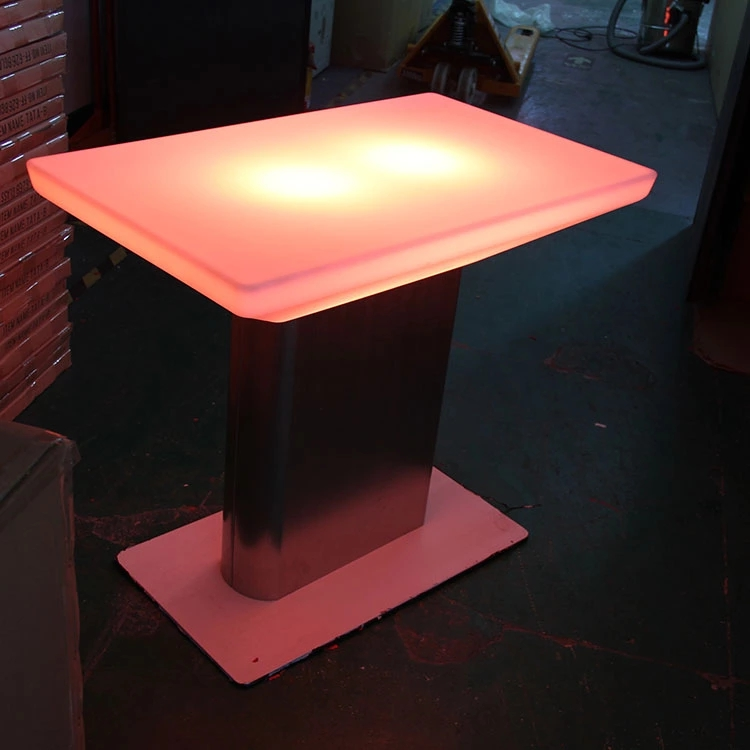Plastic Material Led Luminous Table