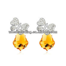 new design champagne crystal earrings jewelry|butterfly crystal stud earrings factory directly earrings jewelry 013030728