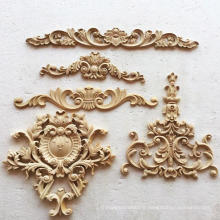 Antique wood carving carved furniture wood appliques onlays