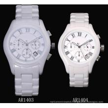 Glatt White Ceramic Watch for Men and Women