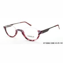 Старая Леди очки для чтения сверху половина обод ацетат оптических очки и оптически рамки