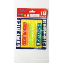 Customized Plastic Transparent Spots dice