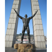 тематический парк статуя открытый сад украшения металлические ремесла бронзовый мужской обнаженной скульптуры