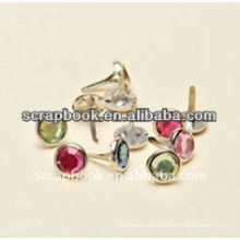 Scrapbooking Crystal dekorative Metall brad