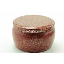 Fleur Peinture en forme ronde Tea Tin Canister Set