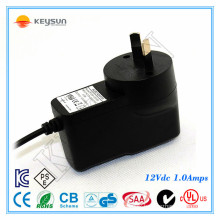 SAA certification Wall adapter 12VDC 1AMP universal power supply for tv