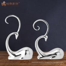 Custom crafts hotel interior home decor abstract resin reindeer sculpture