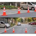 Cono de tráfico de seguridad de color de advertencia de carretera de PVC