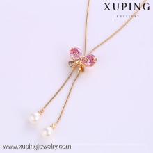 41779-Xuping gros charmes cadeaux de fête bowknot forme collier avec perle