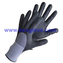 15 Gauge Nylon/Spandex Liner, Nitrile Coating, 3/4, Micro-Foam Safety Gloves