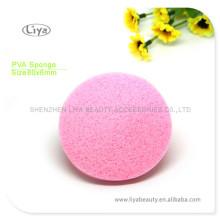 Розовый сжатый губки с логотипа