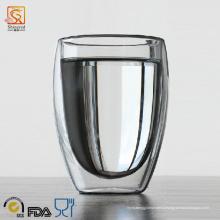 350ml Стеклянная чашка с двойными стенками из яичного желтка