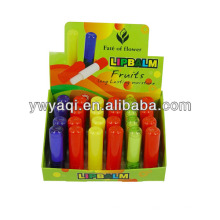 Bunte Tube Frucht Geschmack Lippenbalsam Großhandel im Dispaly Box