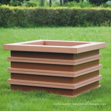 Composé plastique en bois haute qualité Quanlity / WPC Flower Box610 * 610 * 475