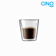 2014 vidro de parede dupla de vidro de borosilicato produtos novo copo xícara café pequeno italiano