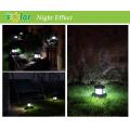 Luzes de post solar da lâmpada LED, diodo emissor de luz solar para poste, solar cerca de iluminação para a iluminação da paisagem do jardim