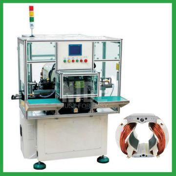 Automatic double two working stations motor stator coil winding machine