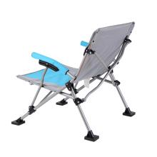 Fácil de transportar cadeira de acampamento dobrável lazer ao ar livre dobrável cadeira de aço inoxidável