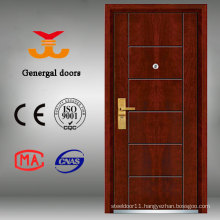 Safty Grade Armored Steel Wood Decorative Front Doors