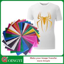 Qingyi wholesale gold glitter heat transfer vinyl for clothing