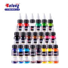 SolongTI302 ensemble d'encre de tatouage de couleur 1 oz 30ml de haute qualité pigment d'encre de tatouage
