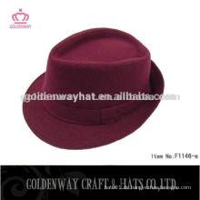 Frauen Mode burgund Fedora Hüte