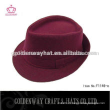 Chapeau fantaisie bordeaux