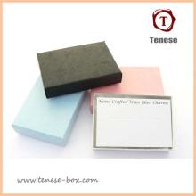 Caja de embalaje de regalo de papel de arte elegante para joyas