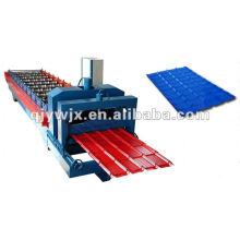CER genehmigte für Stahl glasig-glänzende Dachplatte benutzte Rolle, die Maschine bildet