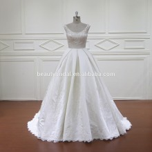XF805 sleeveless pearl white ball gown wedding dress bridal gown wedding dress 2017