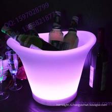 Светодиодный свет вверх пластиковый алюминиевое ведро льда