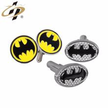 ShuangHua Nouveaux boutons de manchette en métal logo batman gravé personnalisé pour les hommes