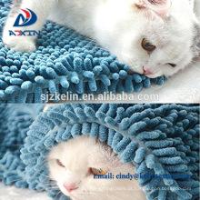 Toalha de limpeza suave Pet Microfiber Chenille
