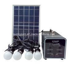 Petit système d'éclairage solaire miniature rechargeable à LED